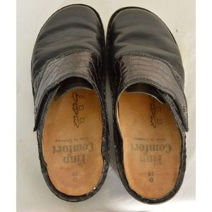 Finn Comfort Shoes - Finn Comfort shoes slides mules 38 black leather t